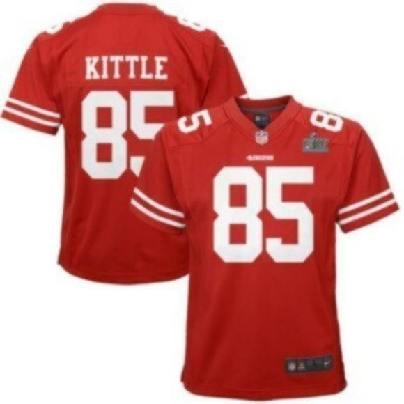 Youth George Kittle Red San Francisco 49ers jersey